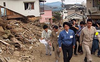 土砂災害被災地視察